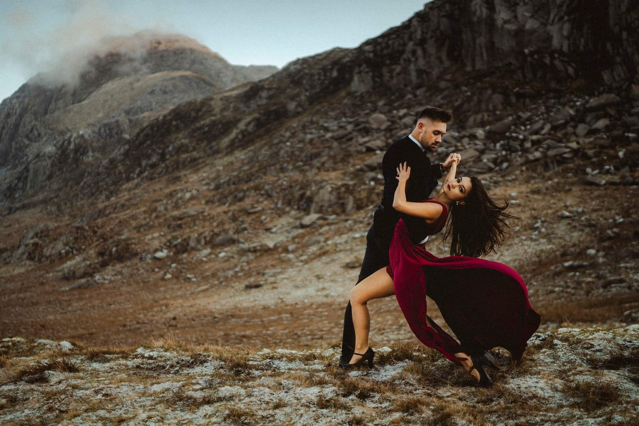 A stunning engagement photoshoot