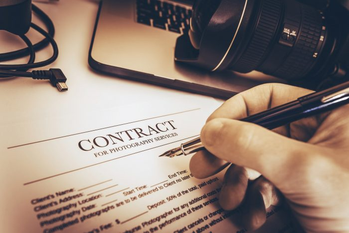 Photography contract stock image 1