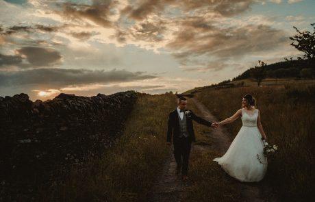 bride and groom mountain photos