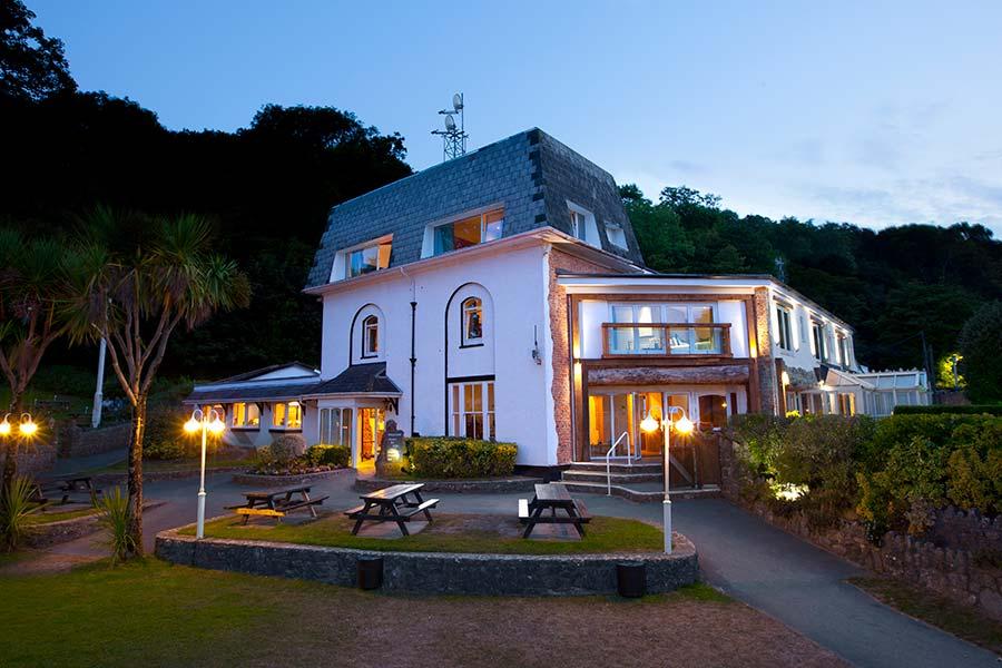 A romantic wedding venue at Oxwich Bay