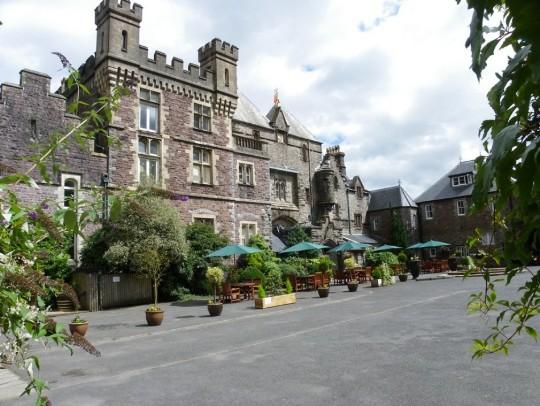 craig y nos castle wedding venue swansea front courtyard 08