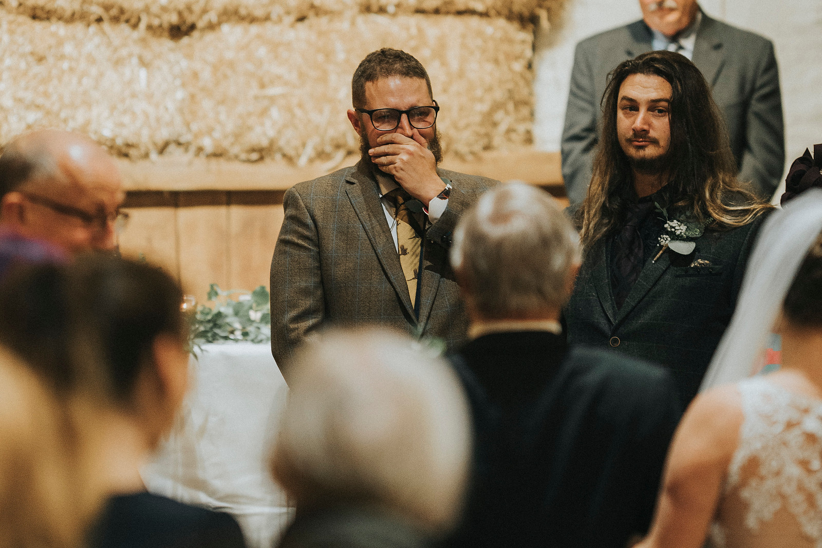 Groom full of emotions as he sees his bride