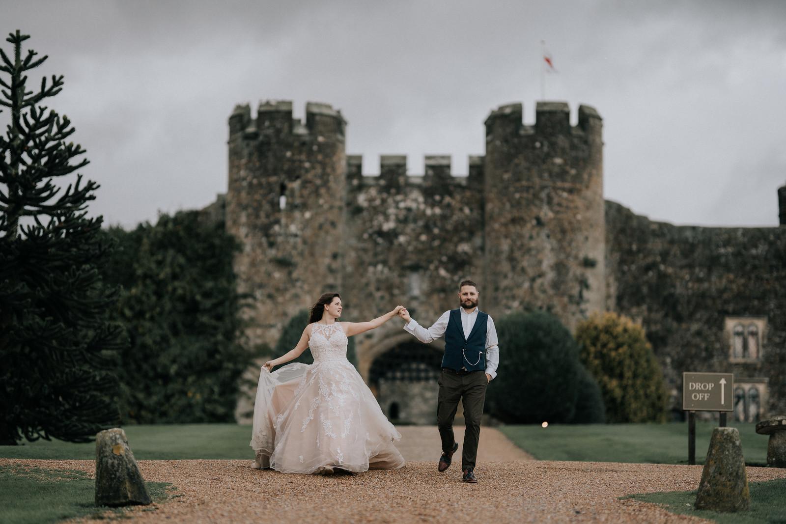 Bride and Groom Wedding Photo - Castle venue