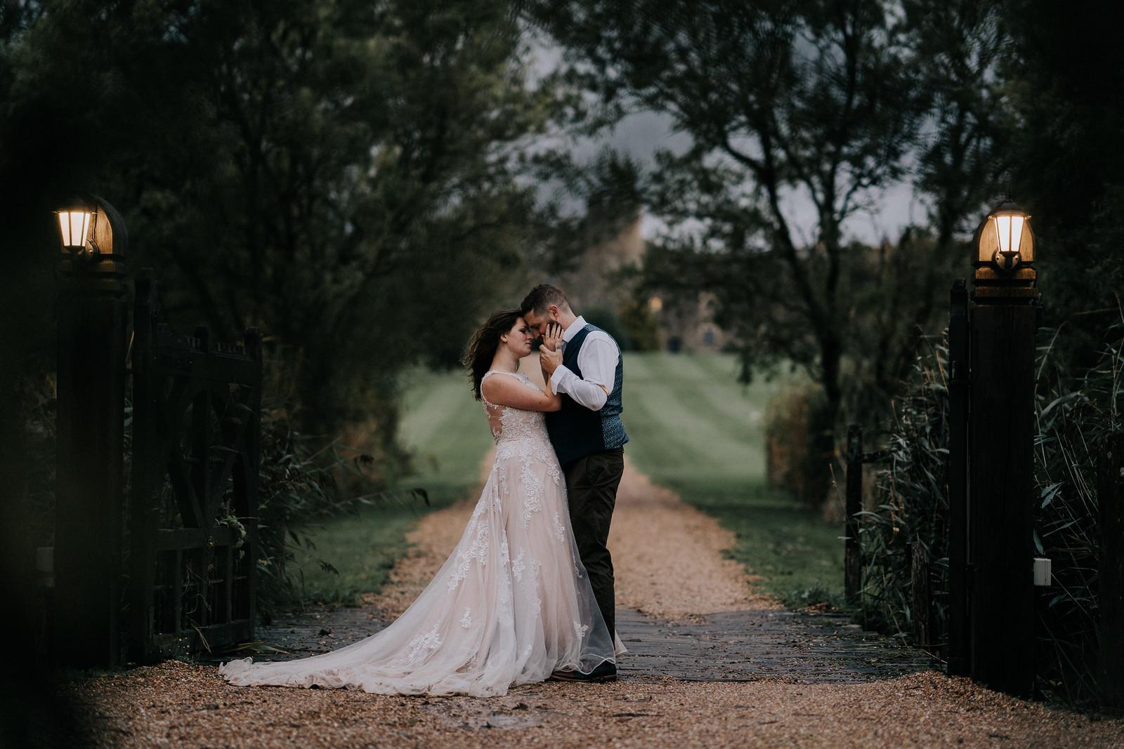 Bride and groom wedding photo with beautiful background - Wedding Photographers Cardiff