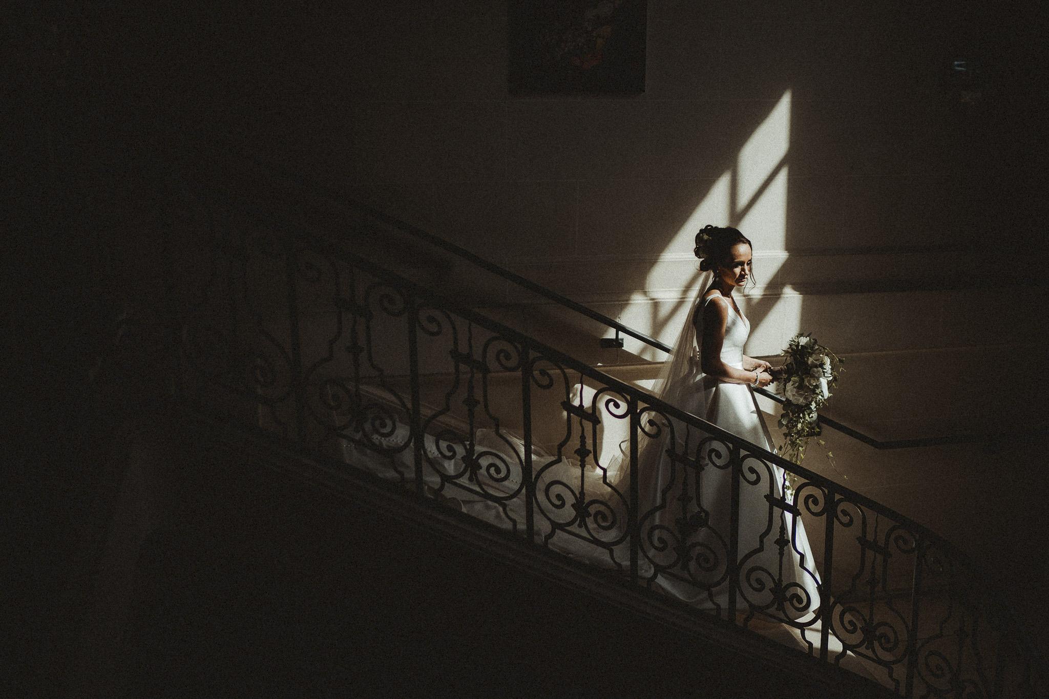 Wedding Photo of Bride| llechwen Hall
