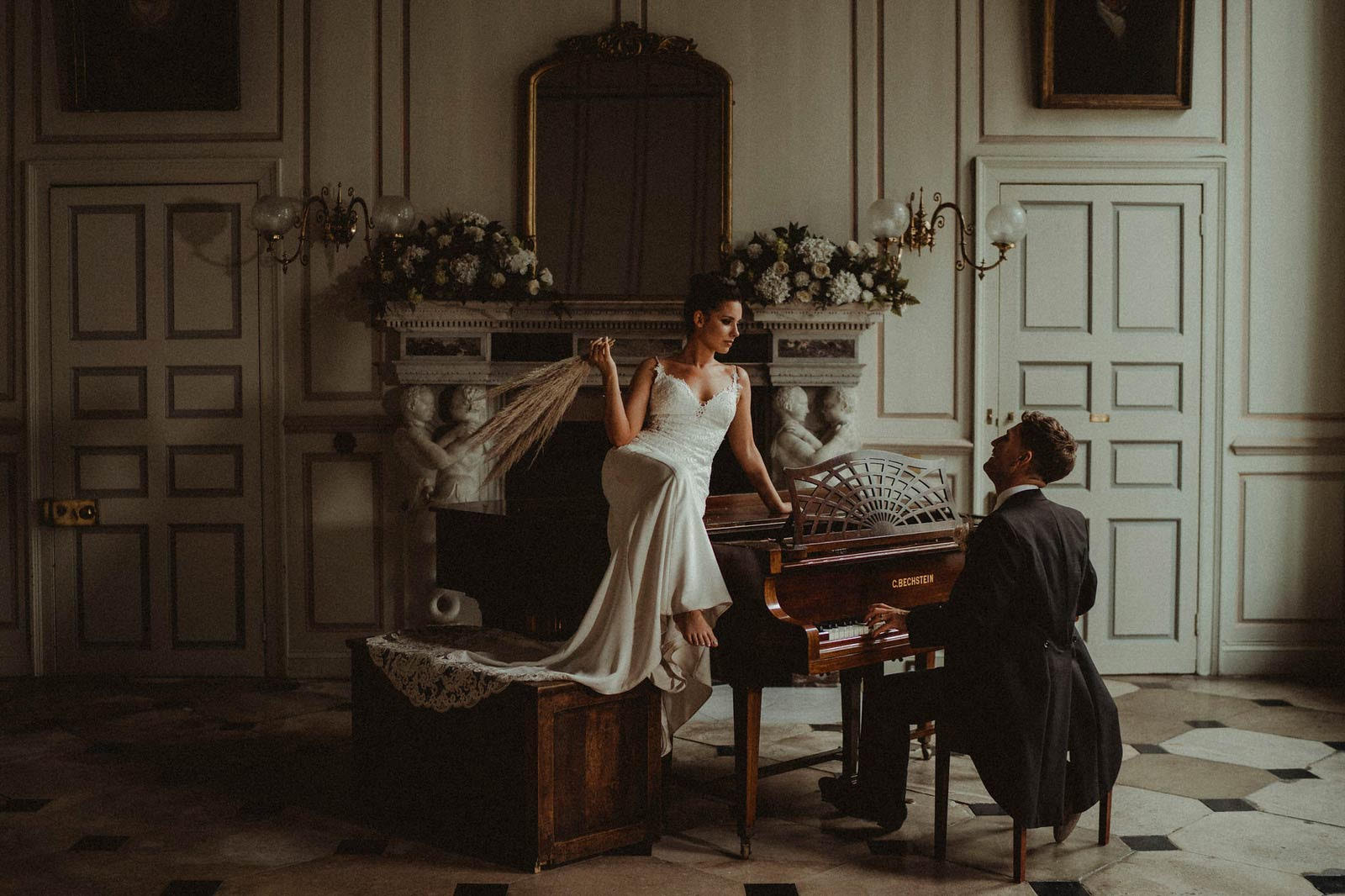 stunning wedding photo of bride and groom - Gosfield Hall Wedding
