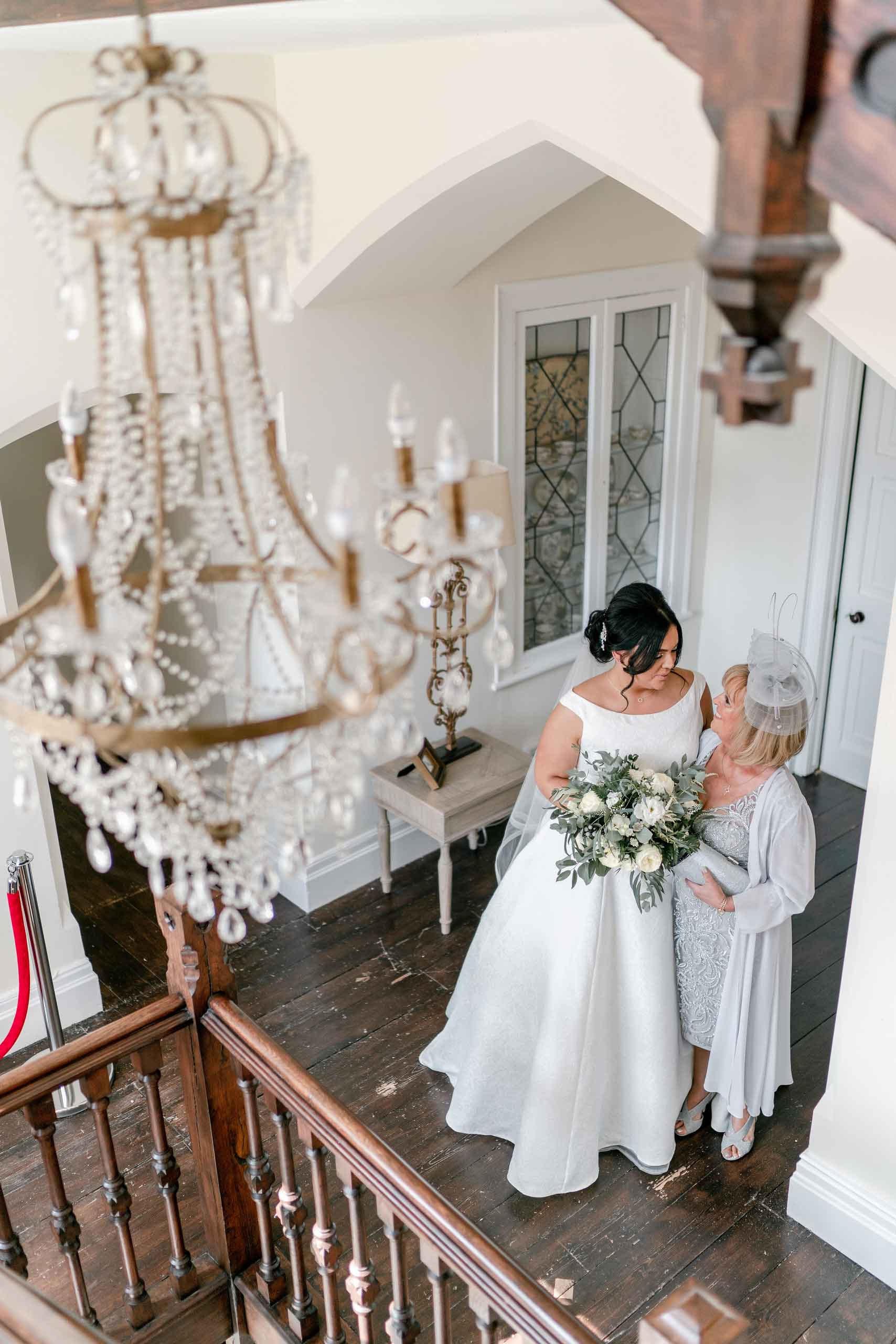 Bride and mother wedding photo - South Wales Wedding Photographers