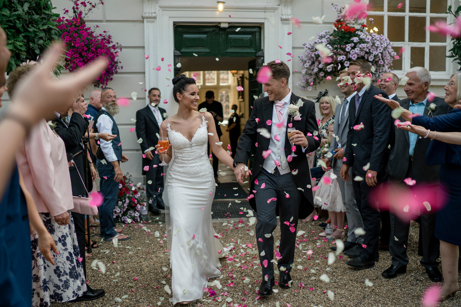 Confetti Wedding Photo - Gosfield Hall Wedding Photo