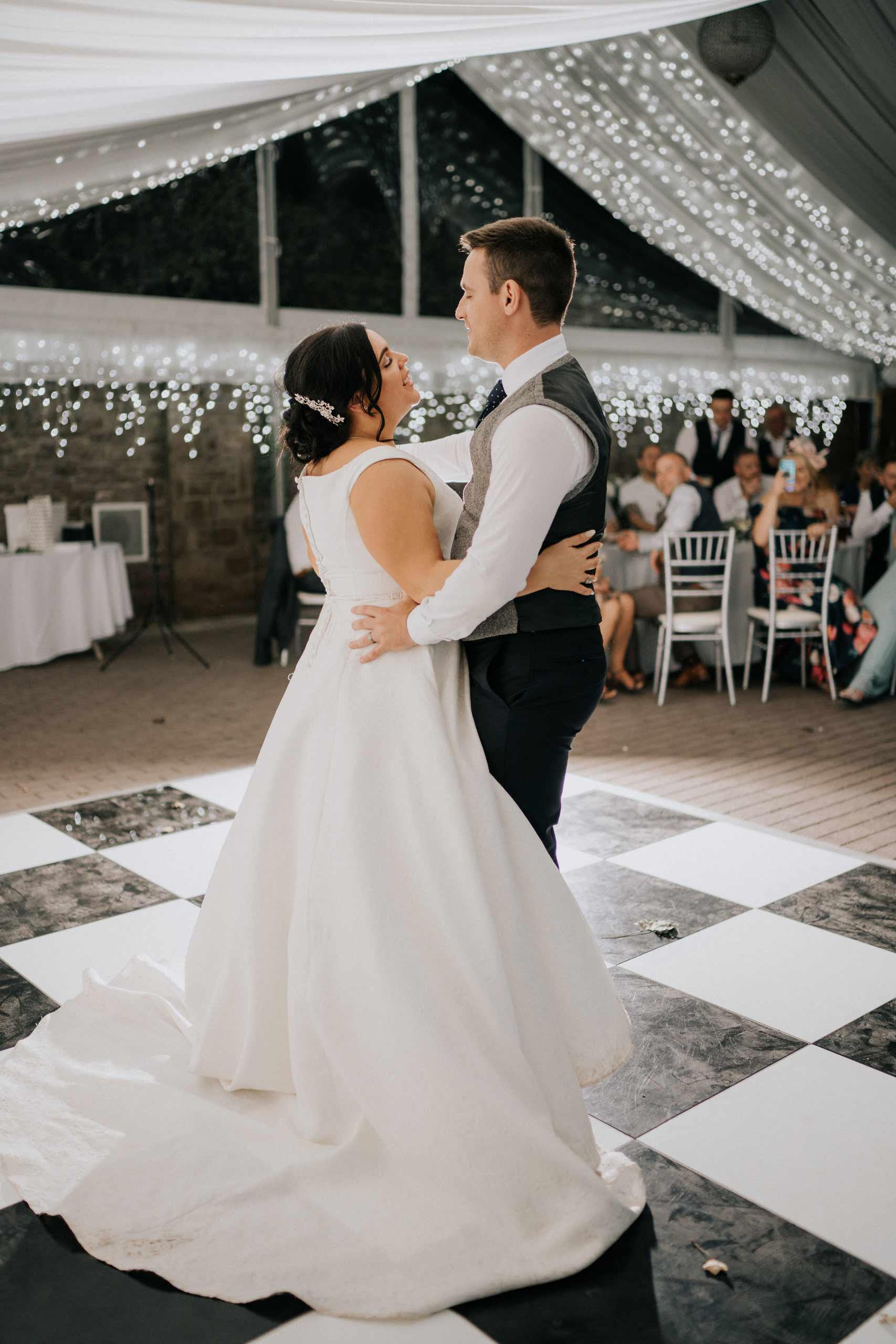First dance bride and groom wedding photo