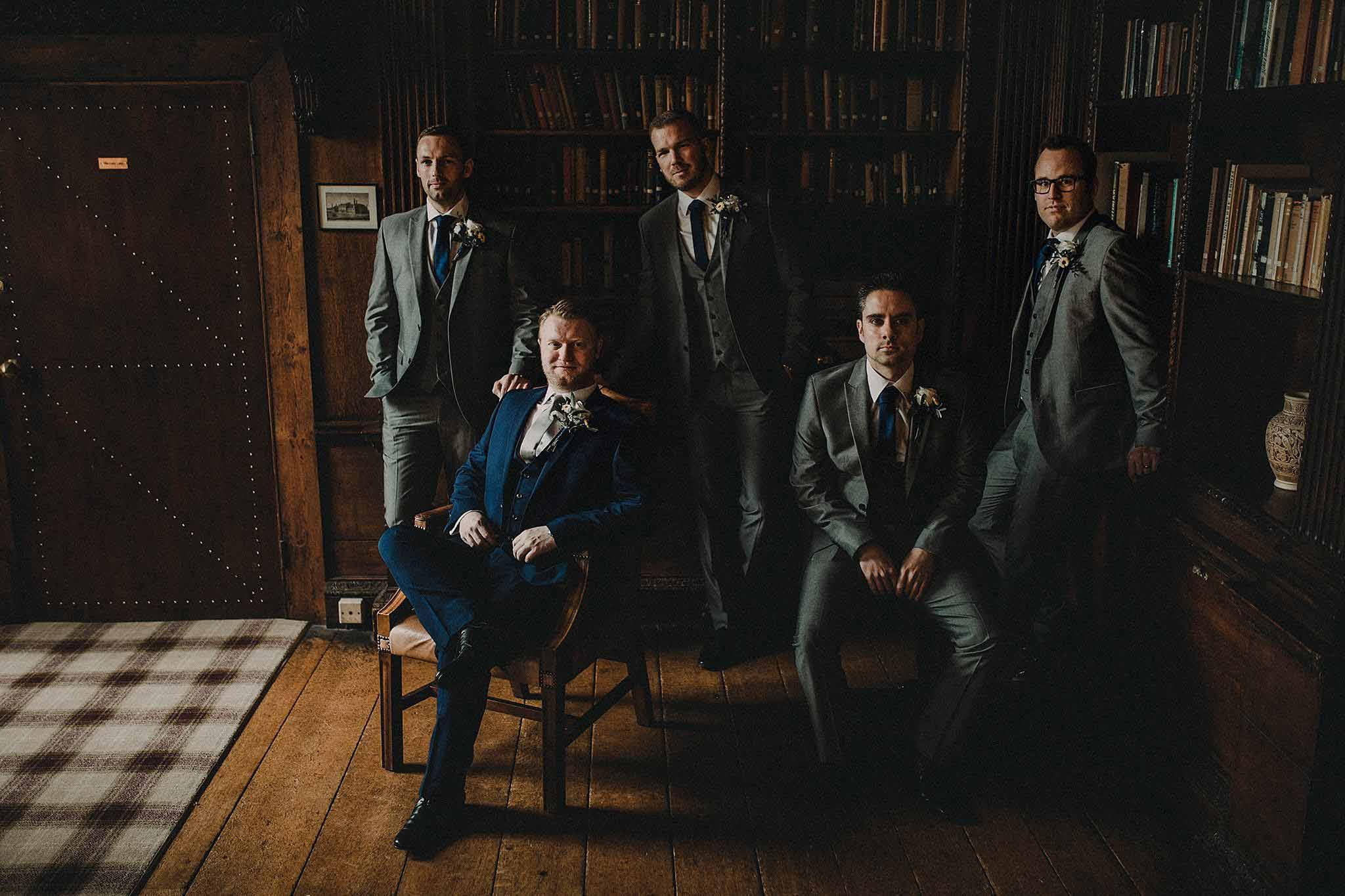Groomsmen Wedding Photo - Gosfield Hall Wedding Photo