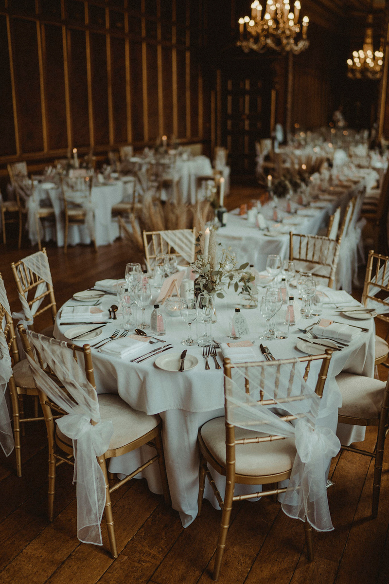 Gosfield Hall Recpetion Decor