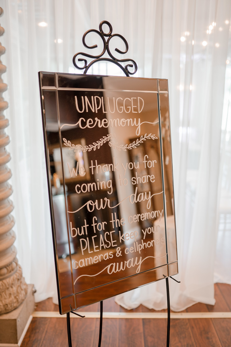 Rose Gold Wedding Sign
