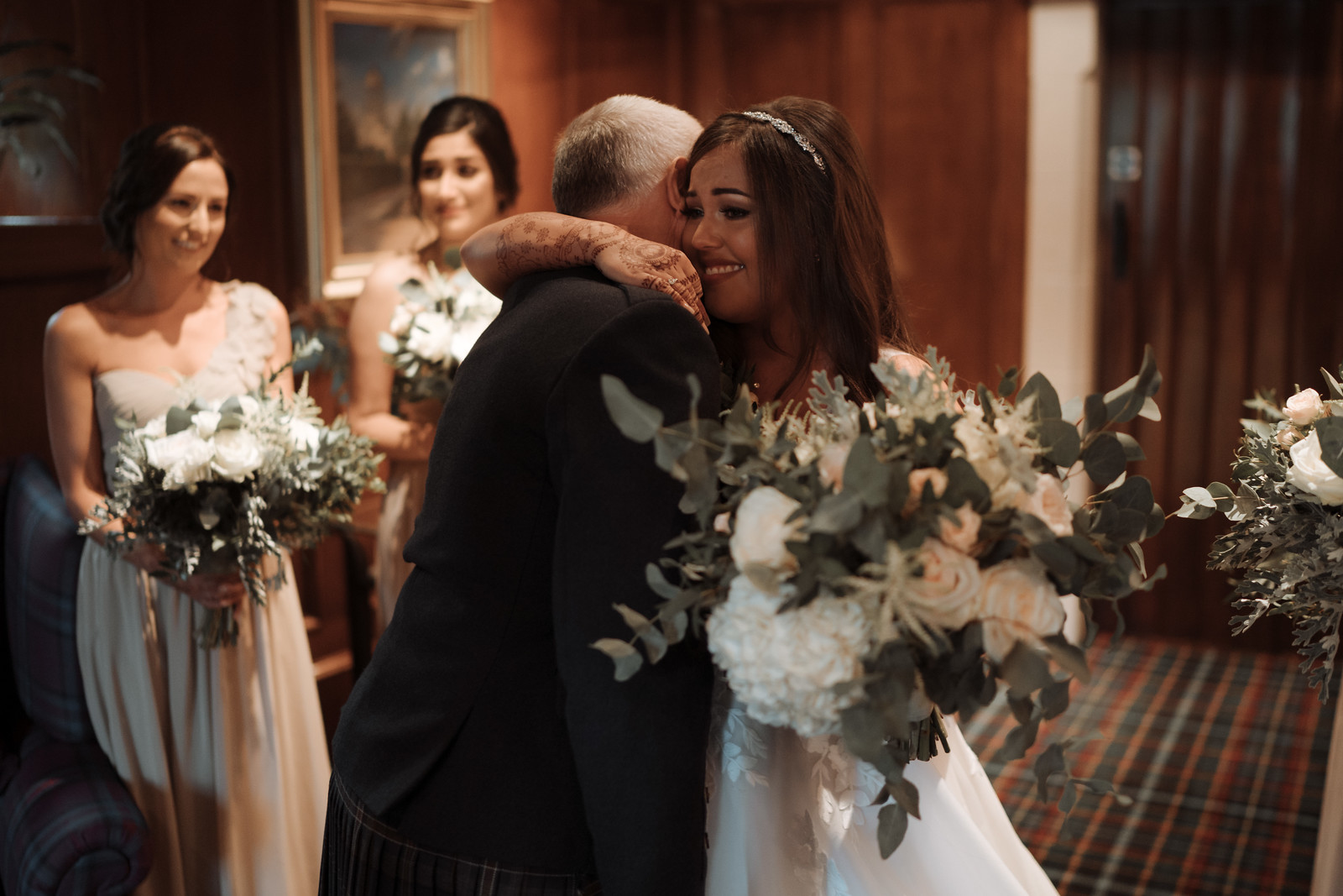 A father and daughter wedding photo