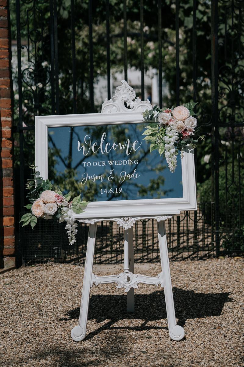 Mirror Design Wedding Sign