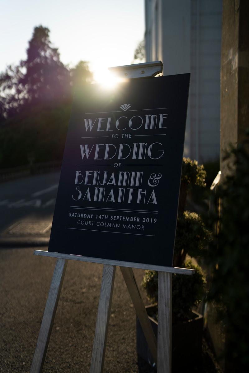 Simple Wedding Sign Design