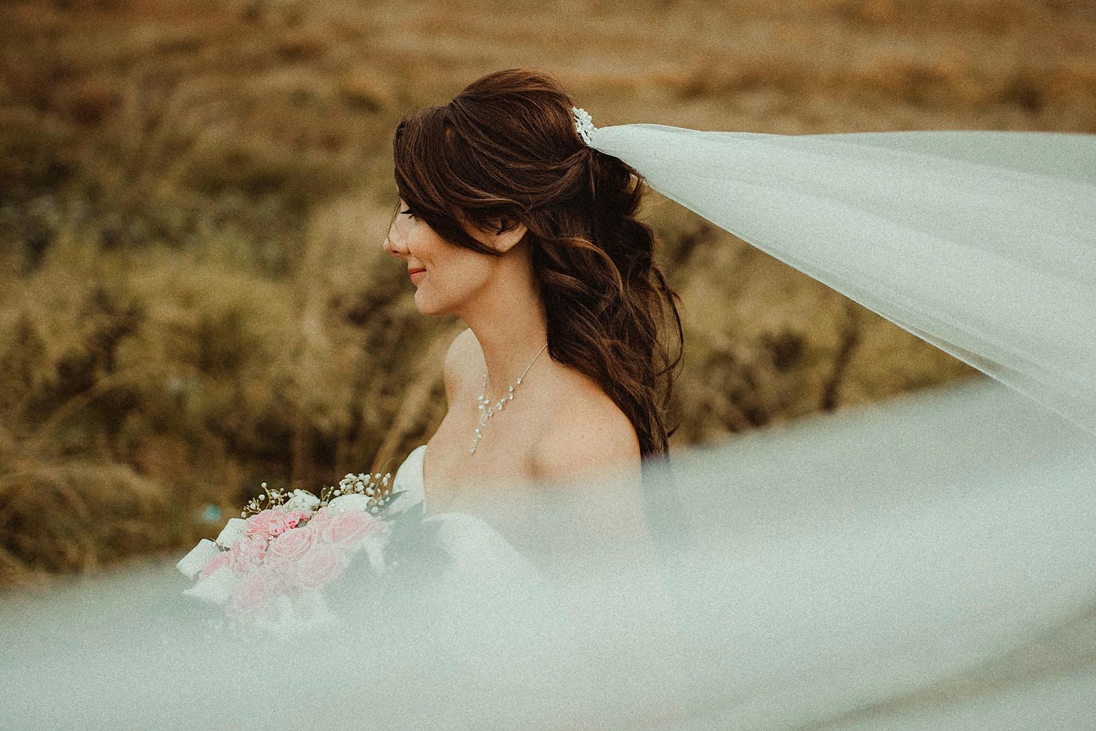 Unique Bridal Wedding Photo