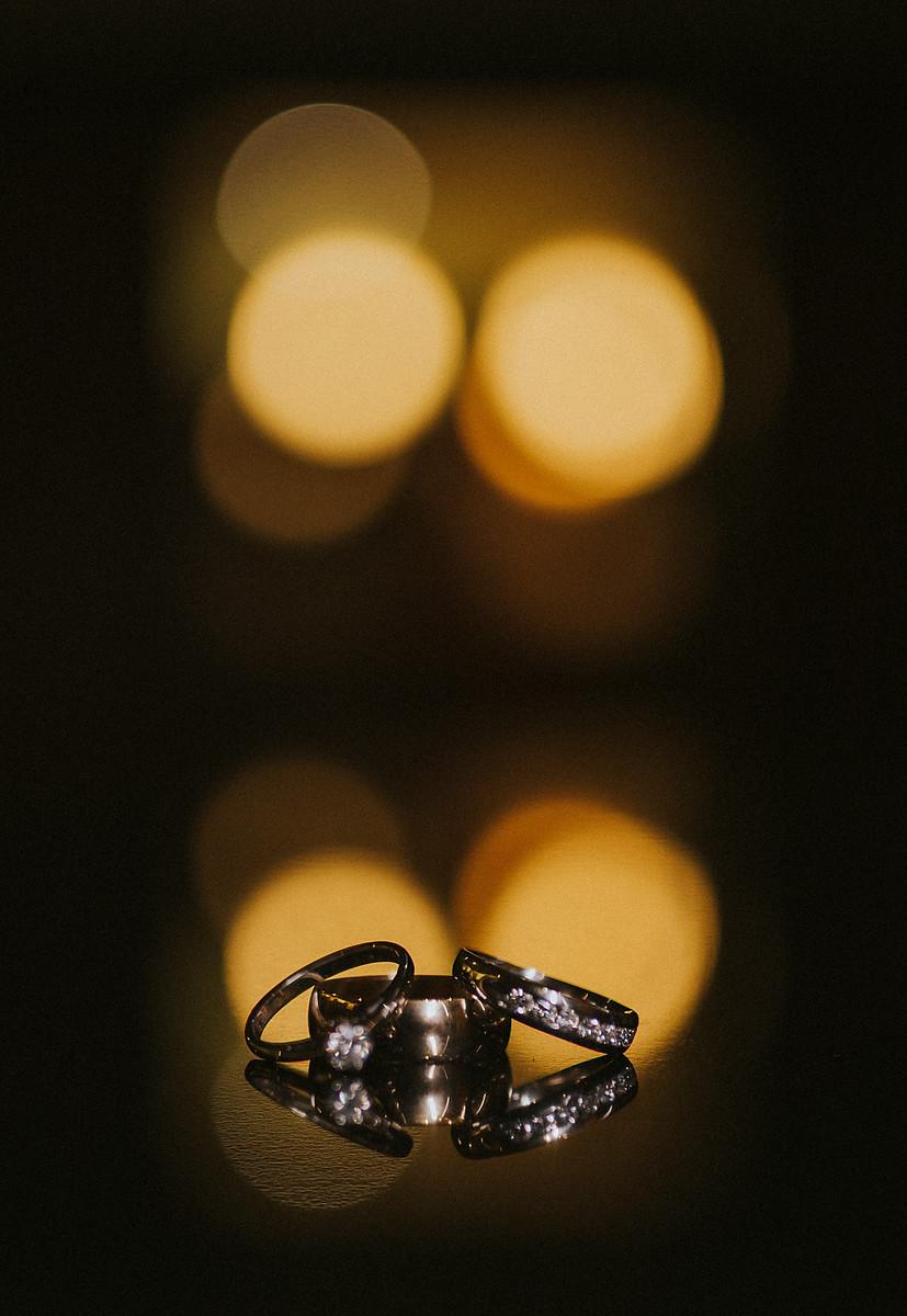 Wedding photo of wedding rings