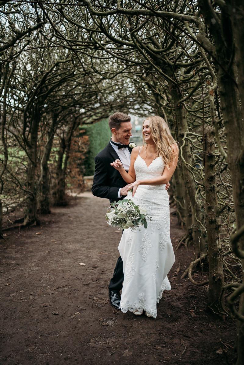 Fun Wedding Photo of Bride and Groom