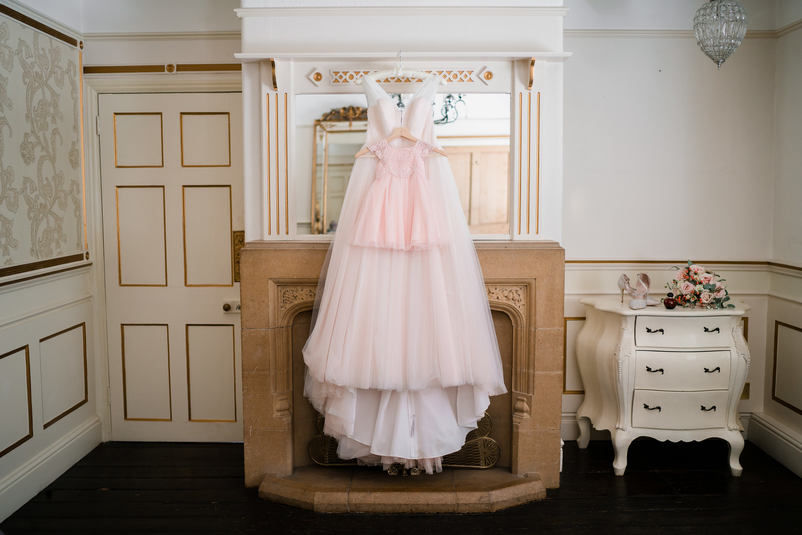 Bride and daughters dresses