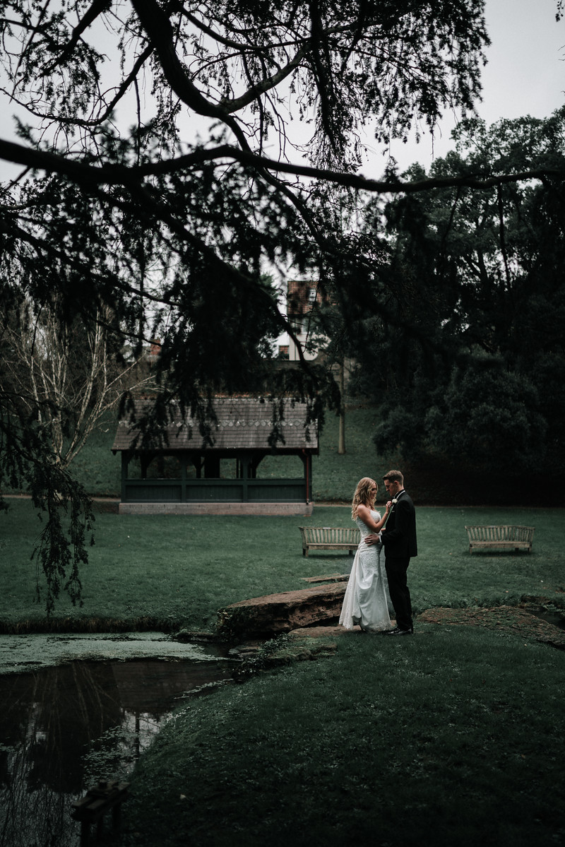 Rustic Style Bride and Groom Wedding Photo