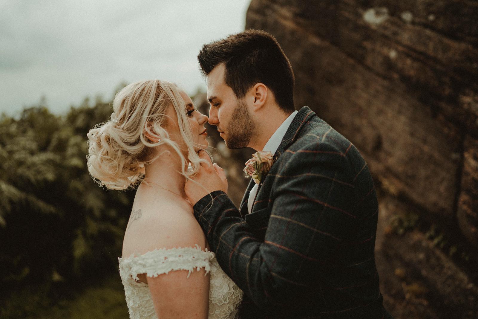 Bride and Groom Romantic Wedding Photo - Wedding Photographers and Videographers Edinburgh