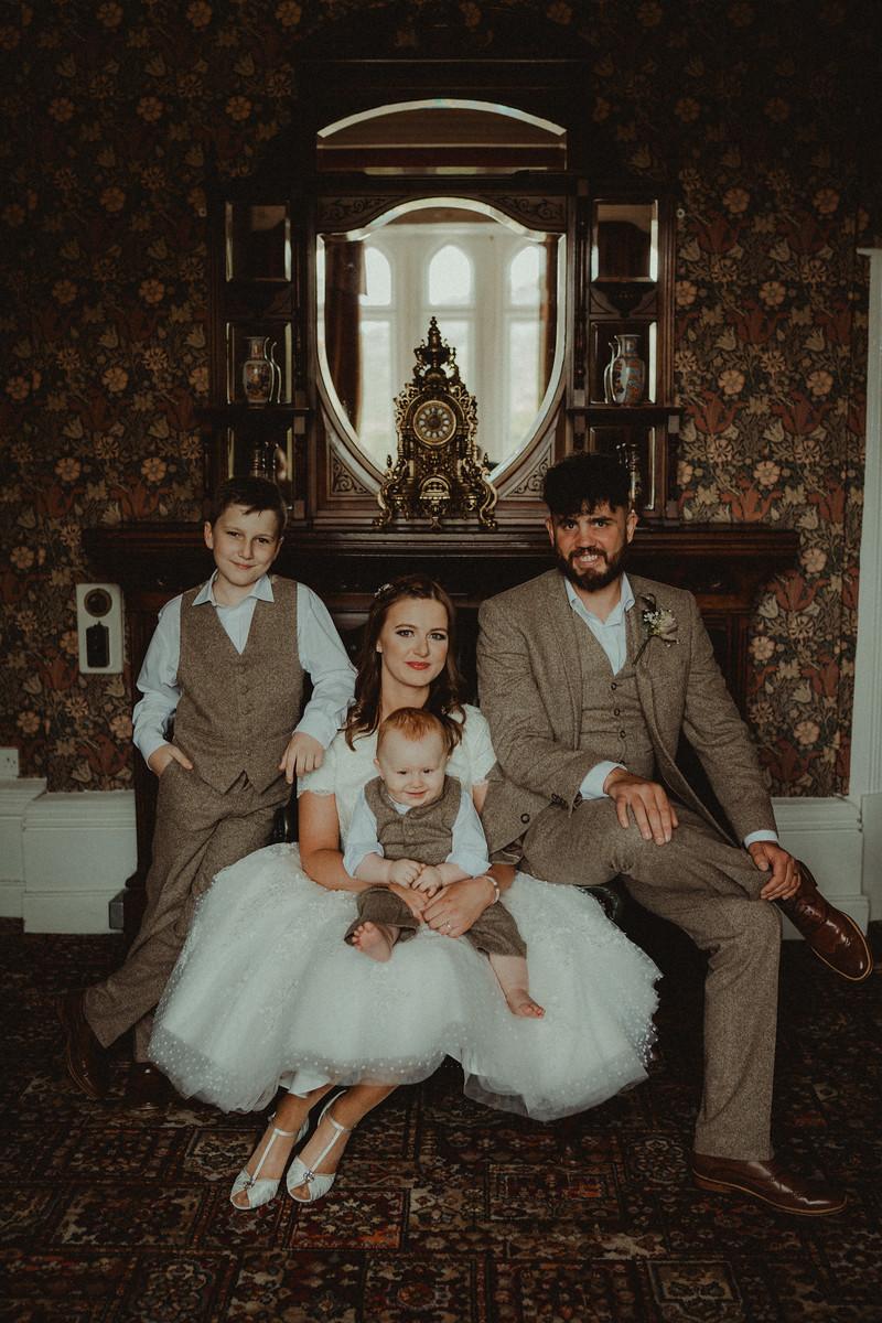 Vintage Wedding Family Portrait