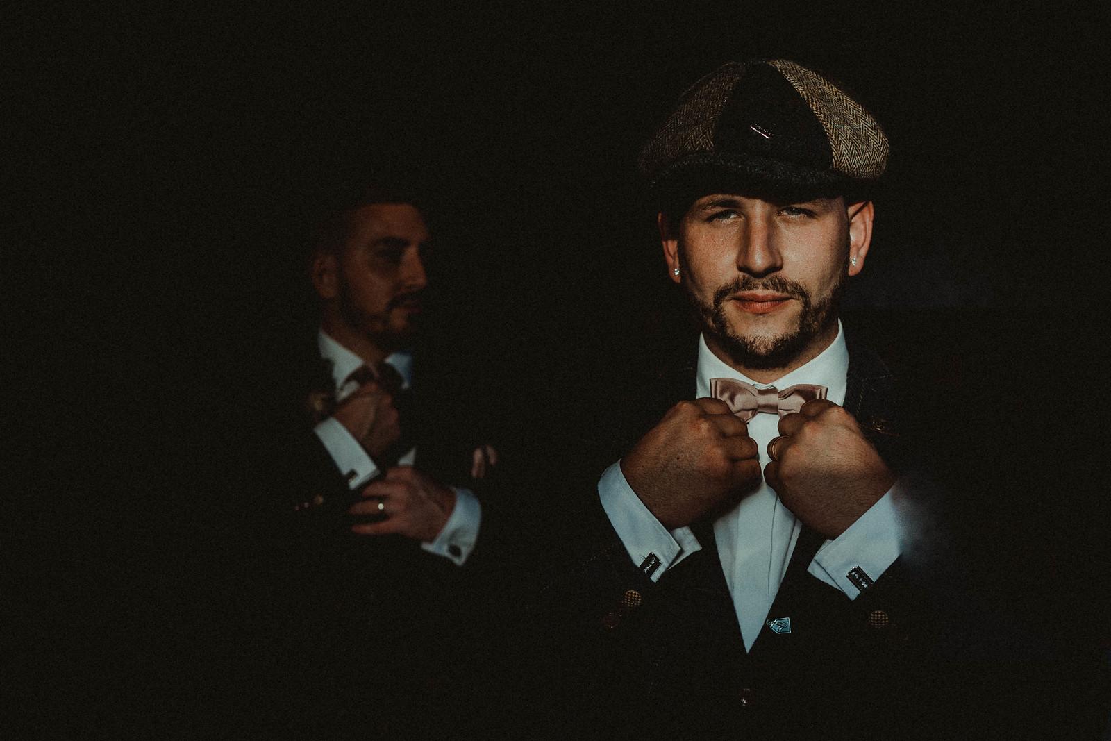 Unique Groomsmen Wedding Photo - Wedding Photographer Cardiff