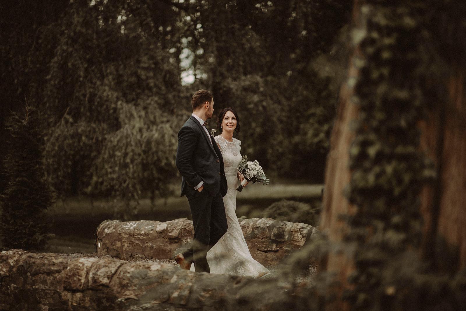 Rustic Theme Wedding Photo of Bride and Groom