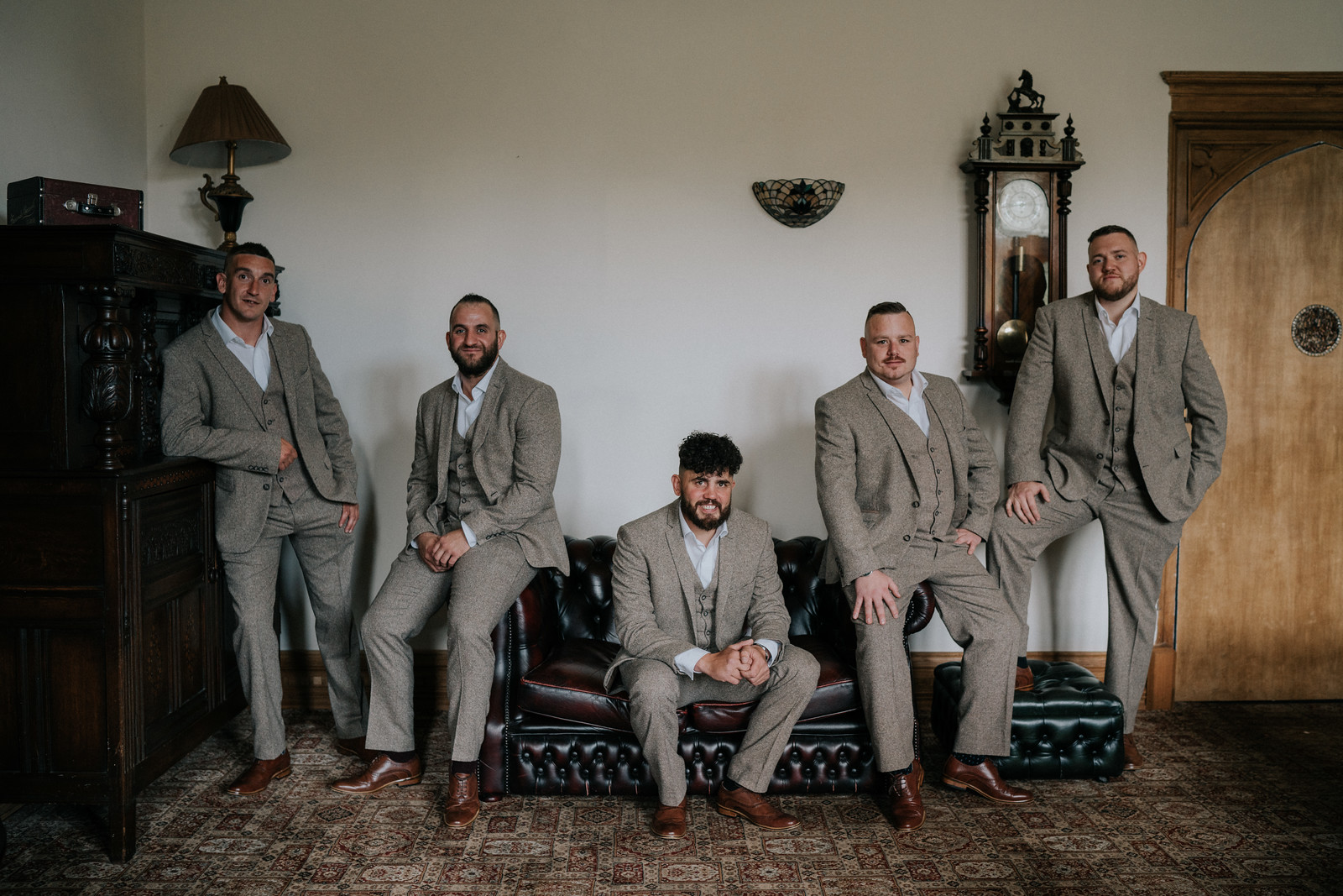 Groomsmen Wedding Photo - Vintage Style Wedding