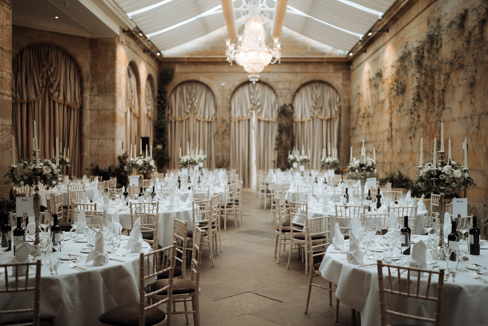 Grand Wedding Table Layout