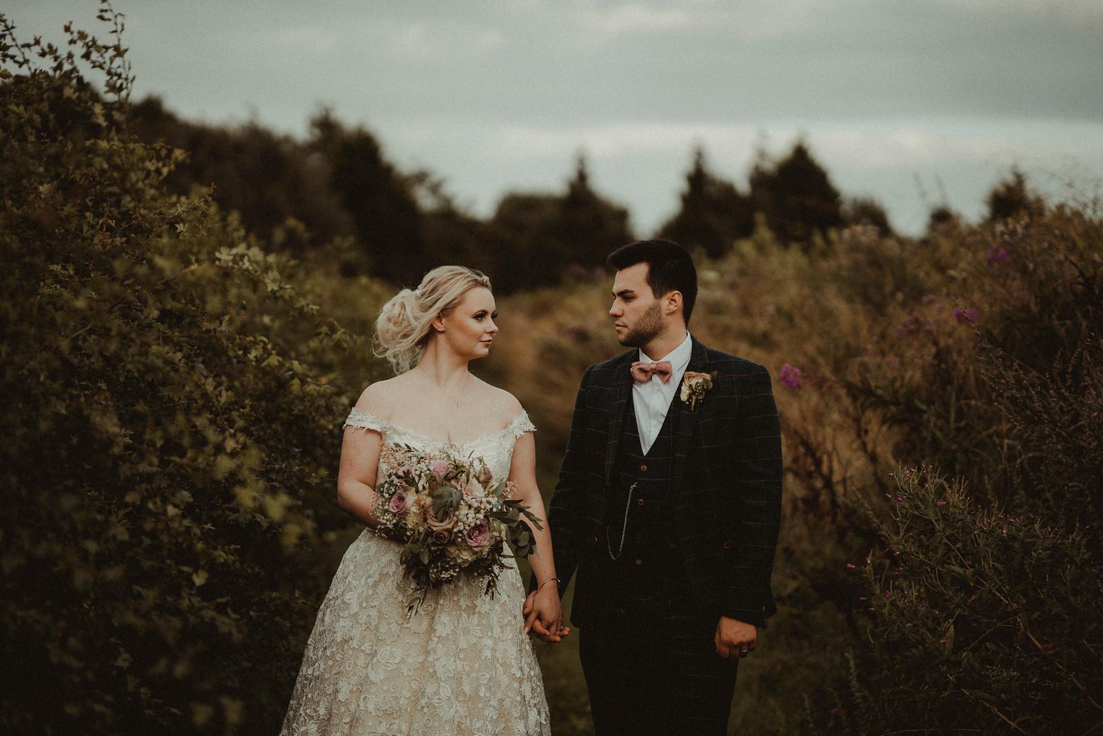 Rustic style wedding photo