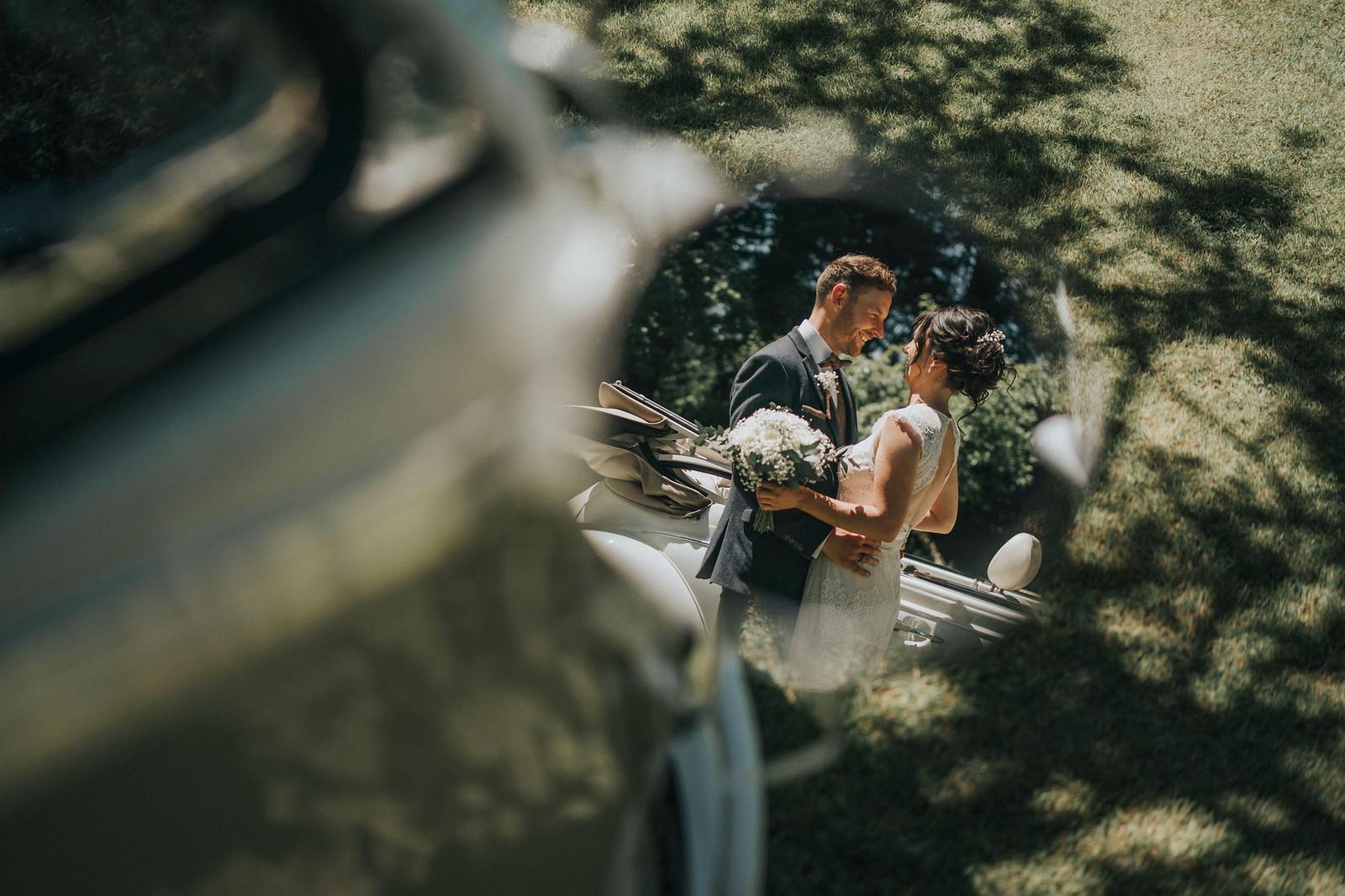 Unique and Creative Wedding Photo of Bride and Groom