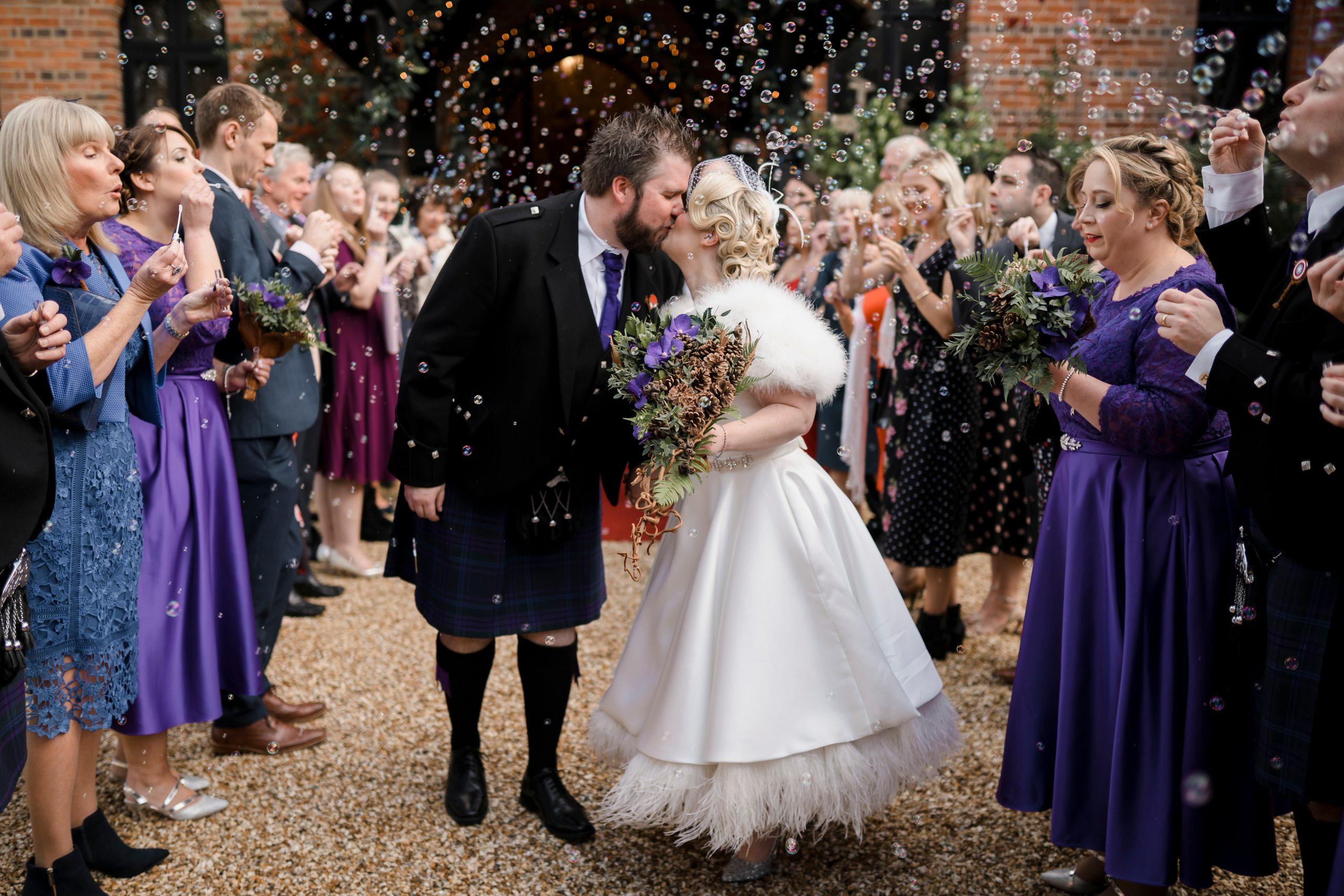 Bubble Confetti Wedding Photo