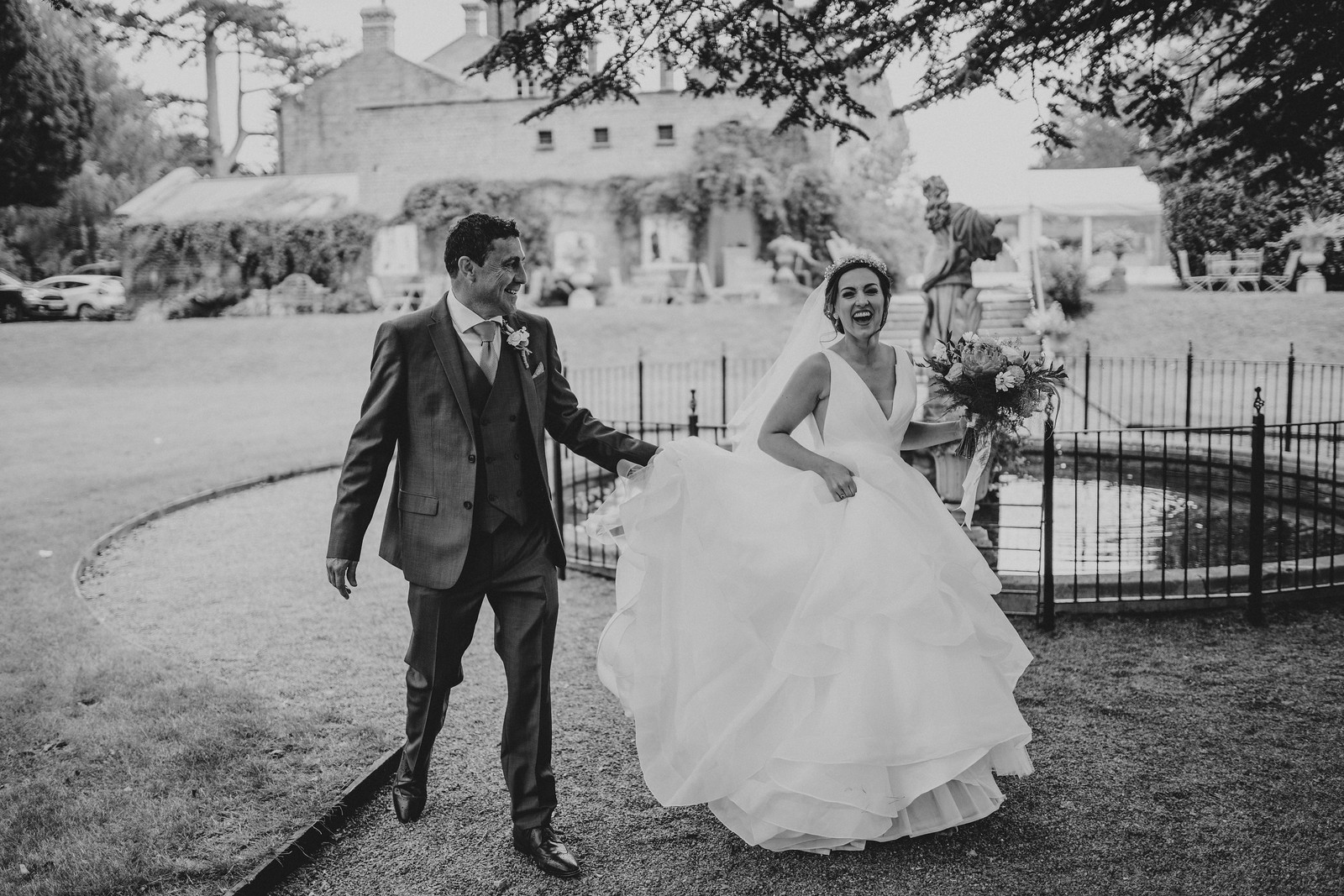 Happy and Fun Picture of Bride and Her Father