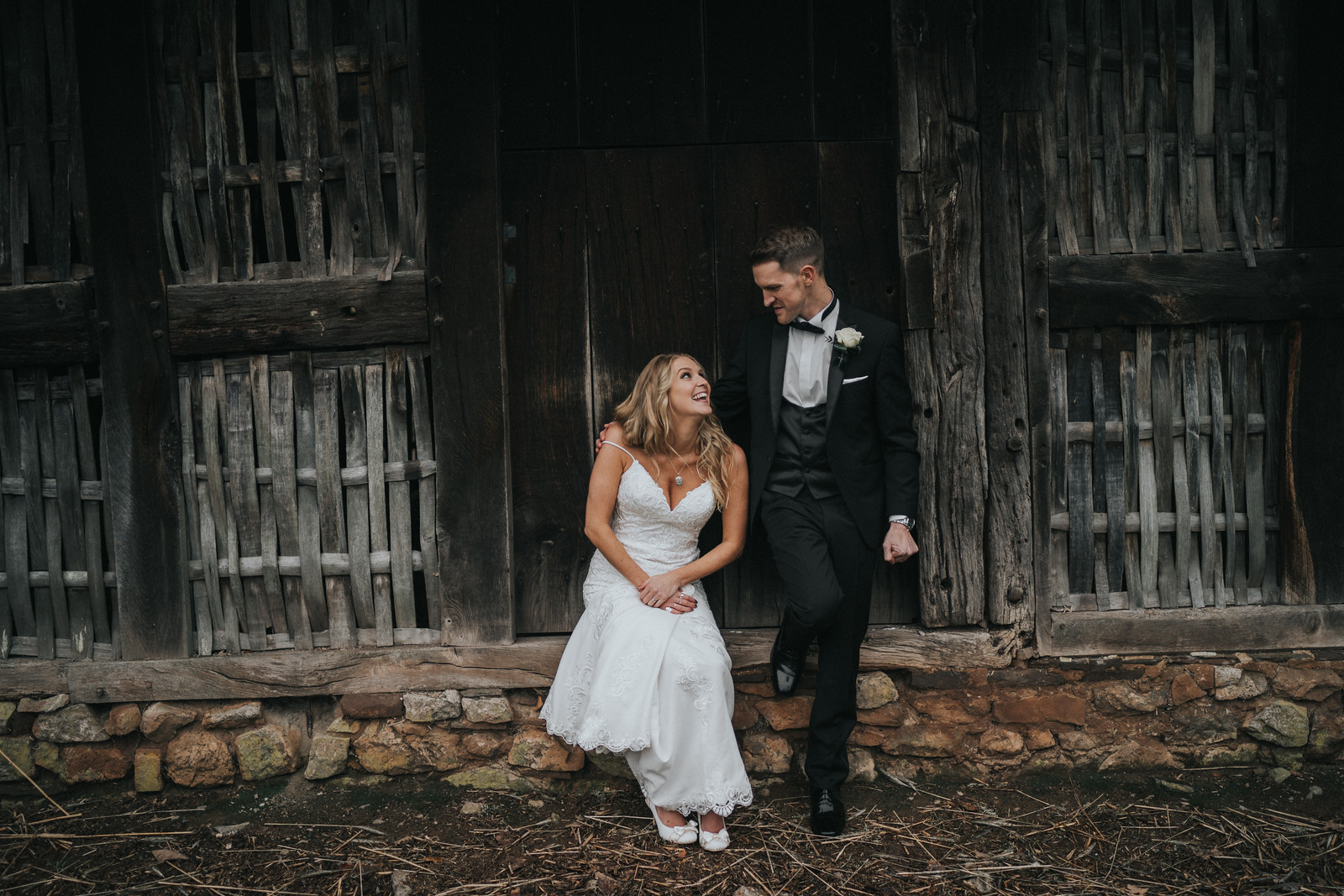 Full of Smiles Bride and Groom Wedding Photo