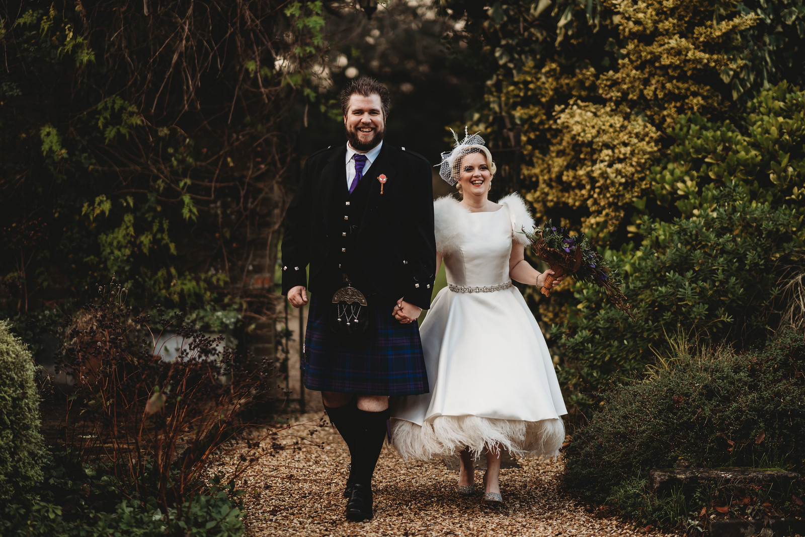 Full of smiles - bride and groom wedding photo