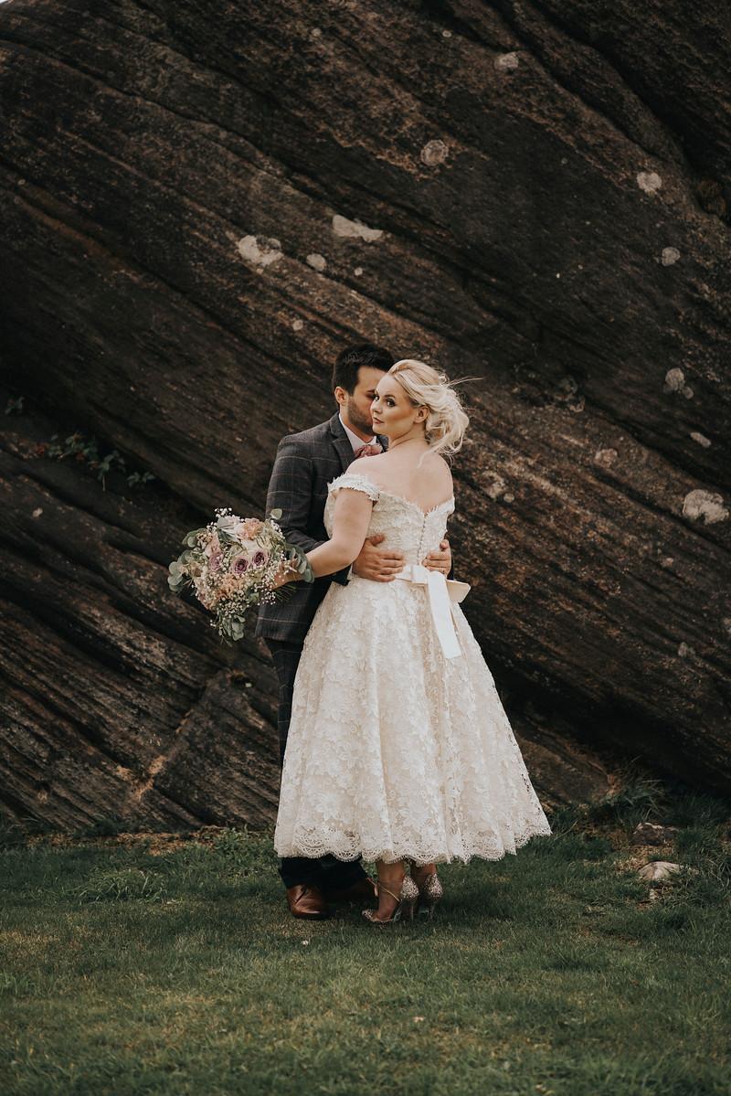 Bride and Groom Wedding Photo - Rustic Style Wedding
