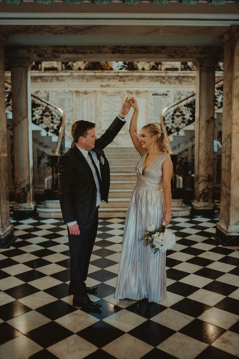 Bride and Groom Dance Wedding Photo