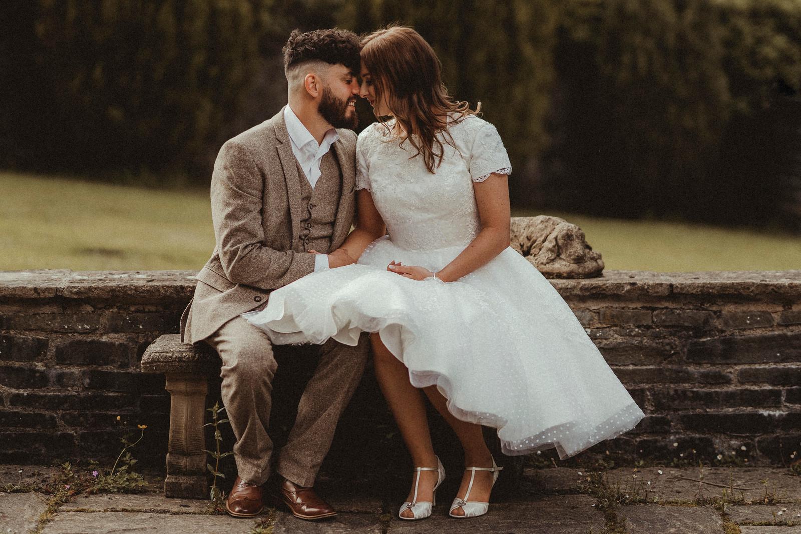 Bride and Groom Vintage Wedding - Wedding Photographers Lichfield