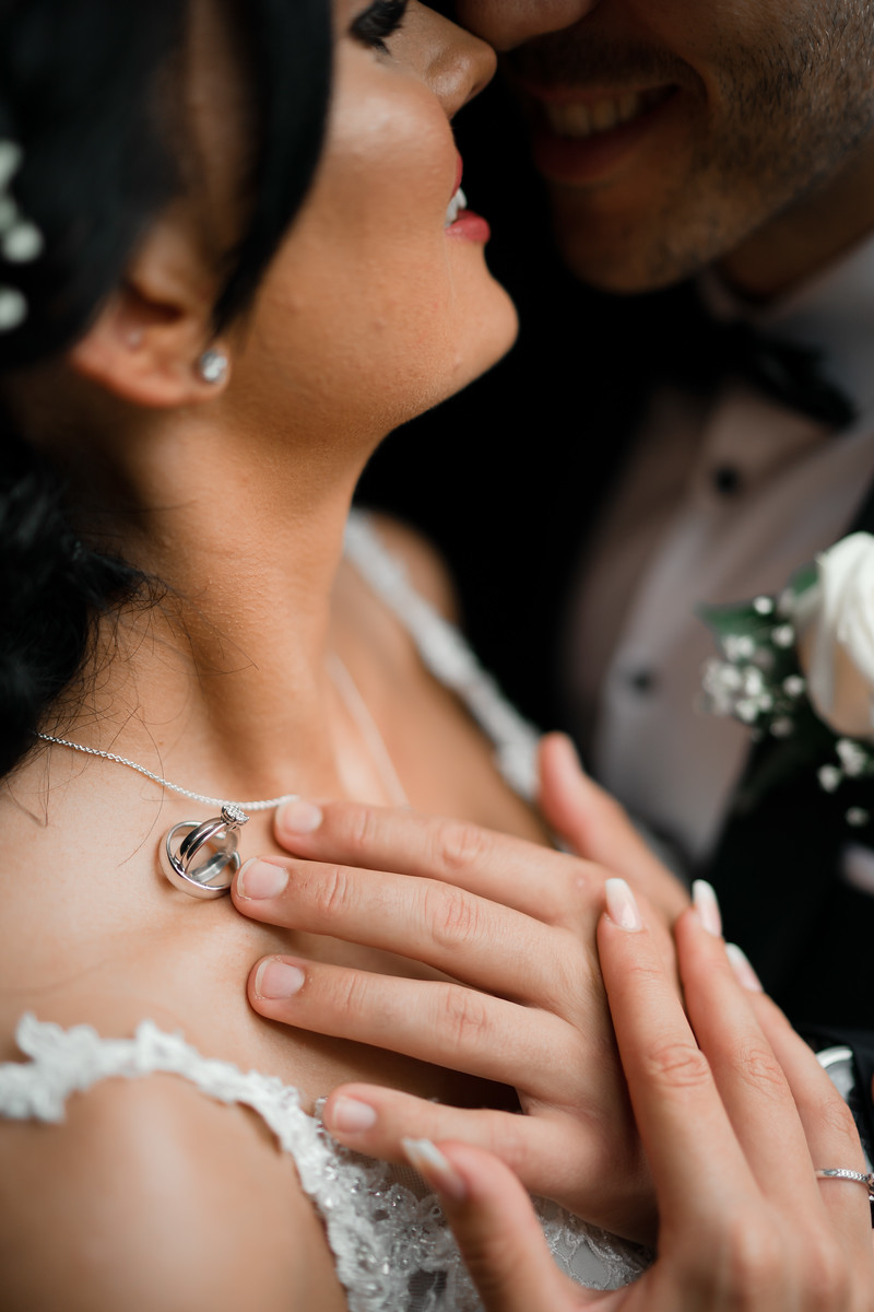 Creative and Unique Photo of Bride and Groom and their Wedding Rings