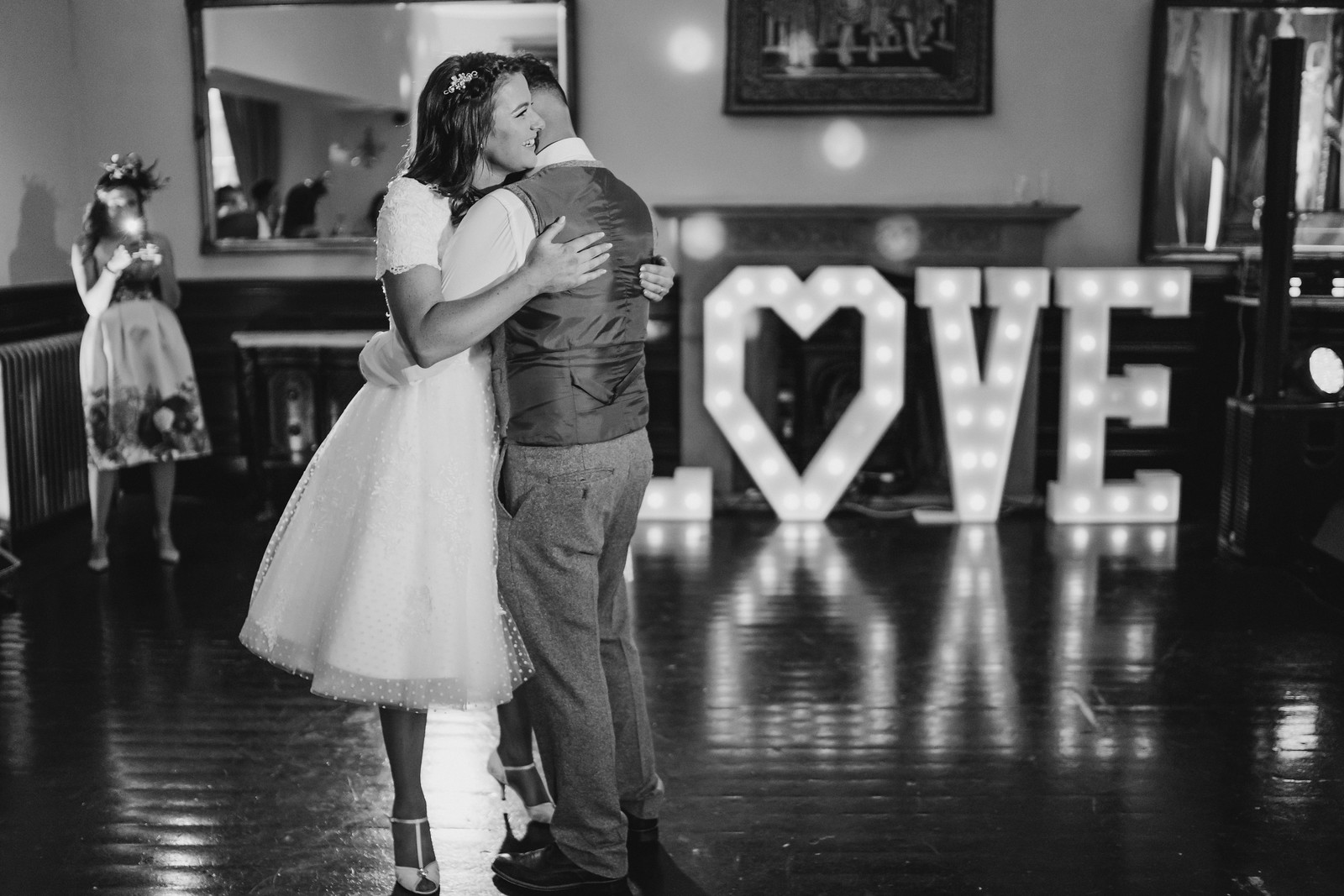 Bride and Groom's First Dance Wedding Photo