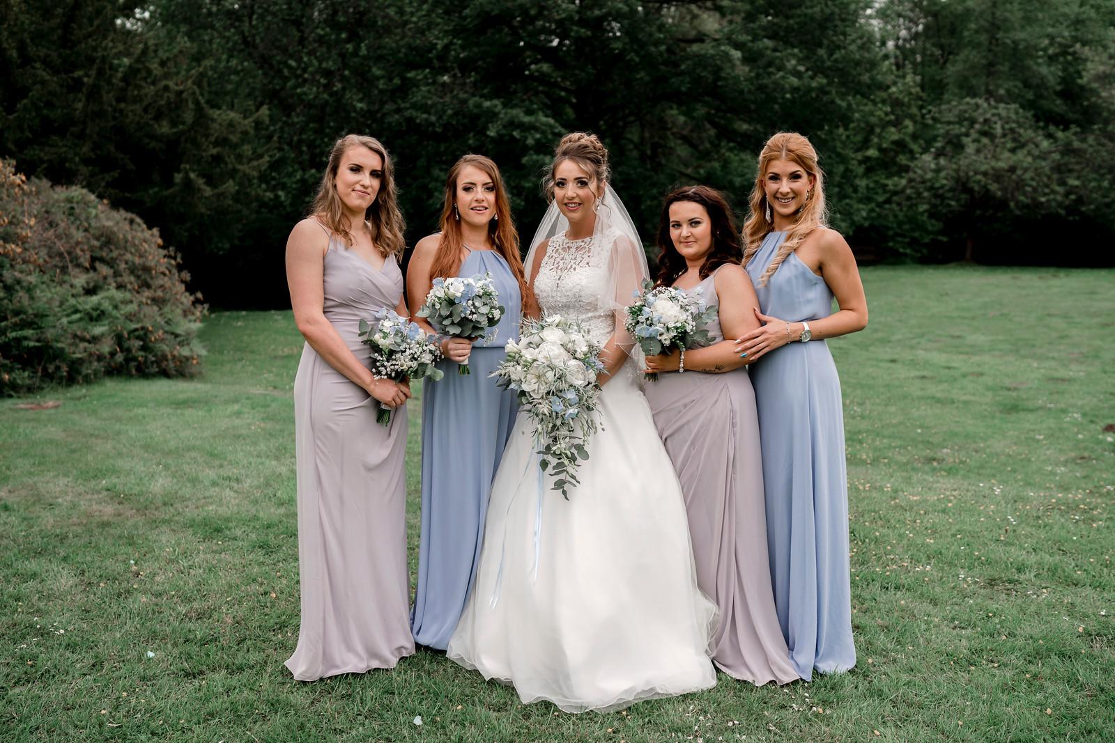 Bride and bridesmaids wedding photo