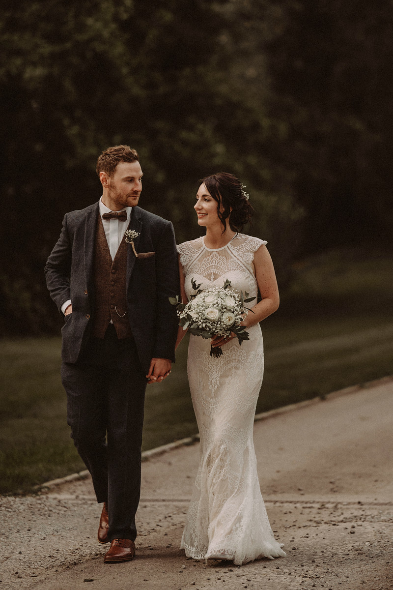 Bride and Groom Wedding Photo - Full of Smiles