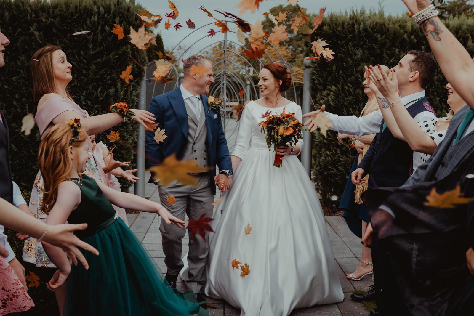 Bride and Groom Confetti Image - Wedding Photographers Essex