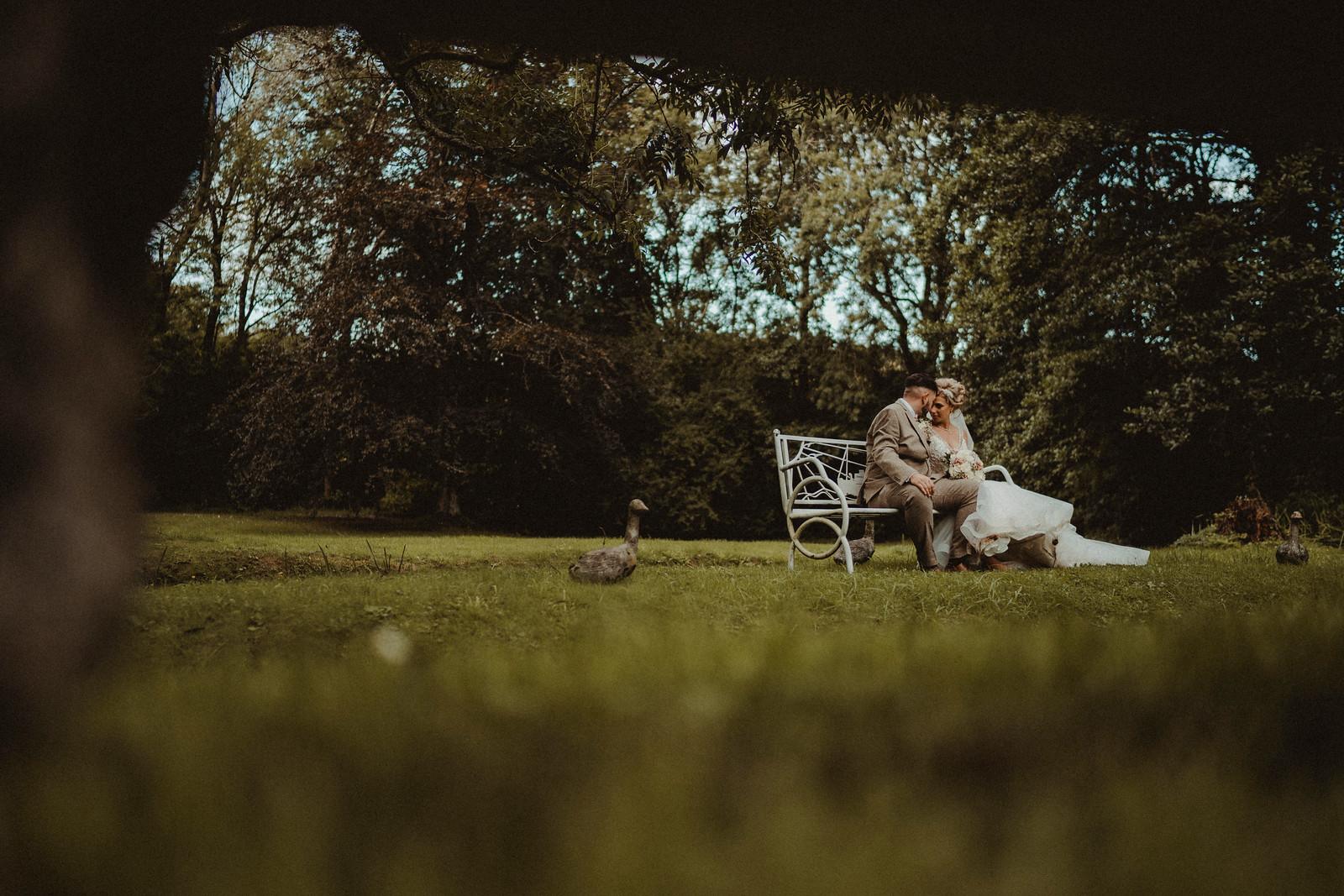 Stunning Wedding Photo of Bride and Groom