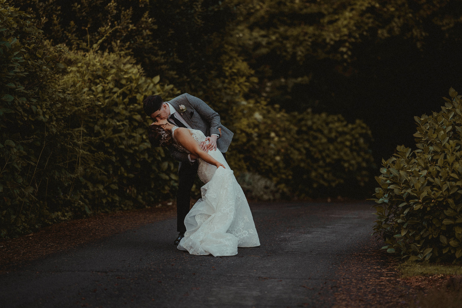 Bride and Groom Kiss Wedding Photography