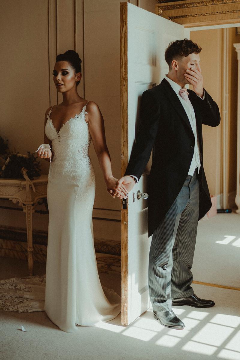 Unique Wedding Photo of Bride and Groom